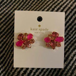 Kate Spade ♠️ new pink gem earrings